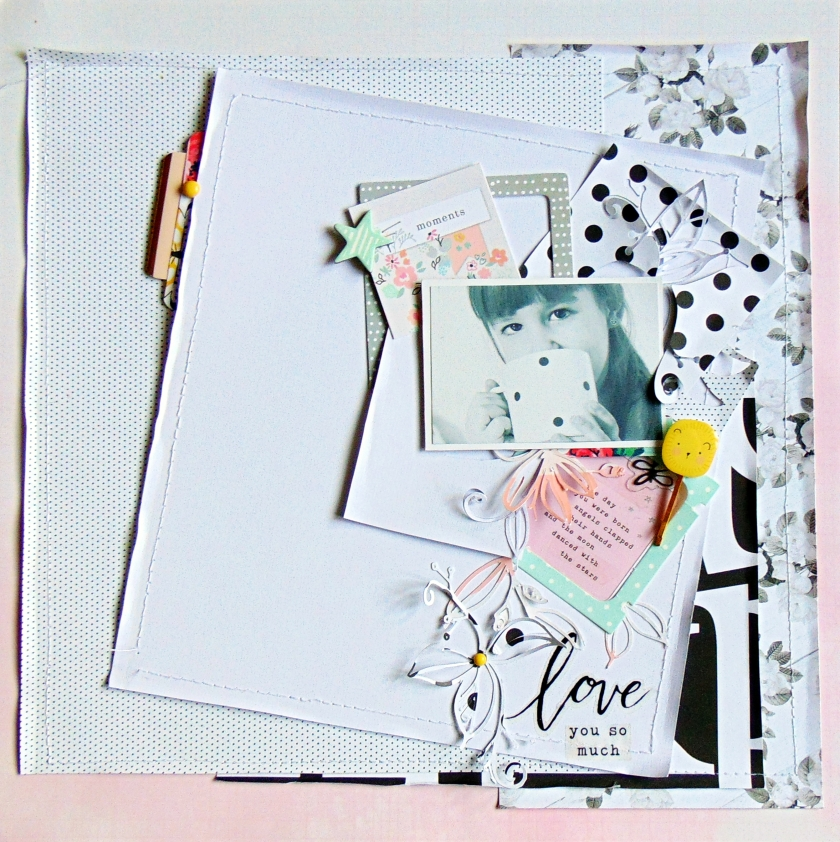 Love #papierjambon #scrapbooking #LO 5