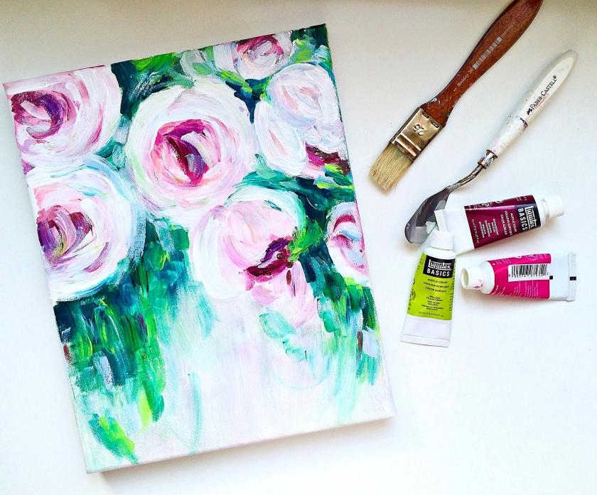 #roses2 #acrylicpaint